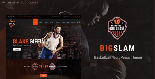 Big Slam - Basketball WordPress Theme