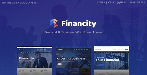Financity - Business / Financial / Finance WordPress Theme