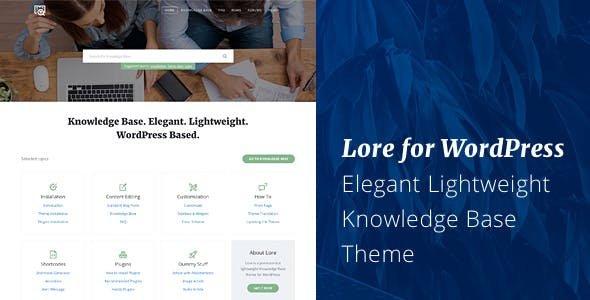 Lore - Elegant Knowledge Base WordPress Theme