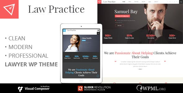 LAW PRACTICE - Lawyer Responsive Business WordPress Theme