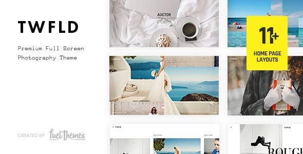 TwoFold - Fullscreen Photography Theme