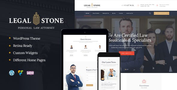 Legal Stone | Lawyers & Attorneys WP Theme