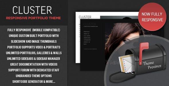 Cluster - A Responsive Portfolio WordPress Theme
