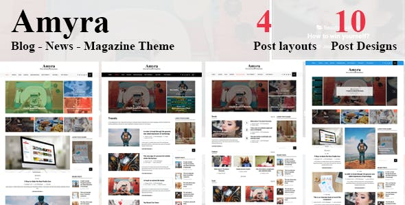 Amyra - Clean WordPress Blog/News/Magazine Theme