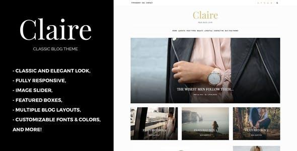 Claire - Classic WordPress Blog Theme
