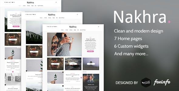 Nakhra - Modern Personal WordPress Blog & Magazine Theme