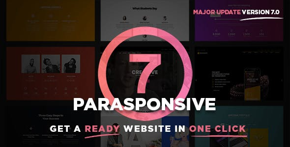 Parasponsive One-page WooCommerce WordPress Parallax
