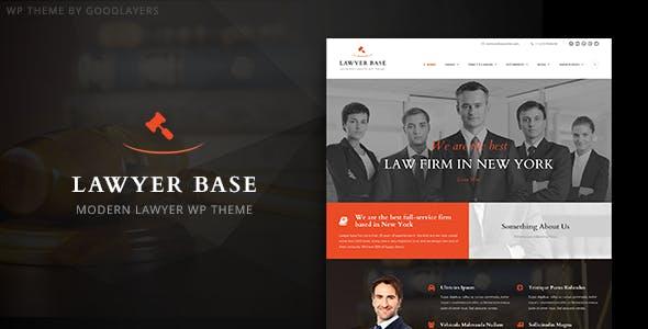 Lawyer Base - Lawyers Attorneys WordPress Theme