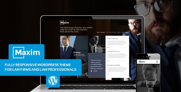 Maxim - Simple Company and Lawyer Theme
