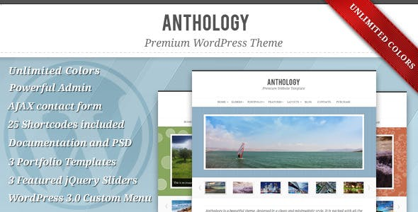 Anthology - Elegant WordPress Theme