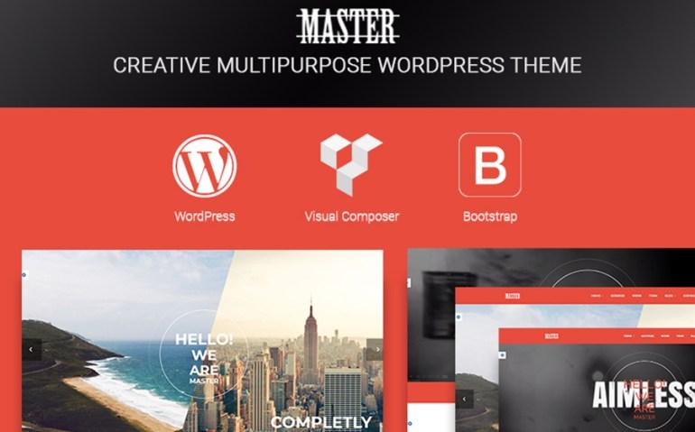 Master - Creative Multi Purpose WordPress Theme
