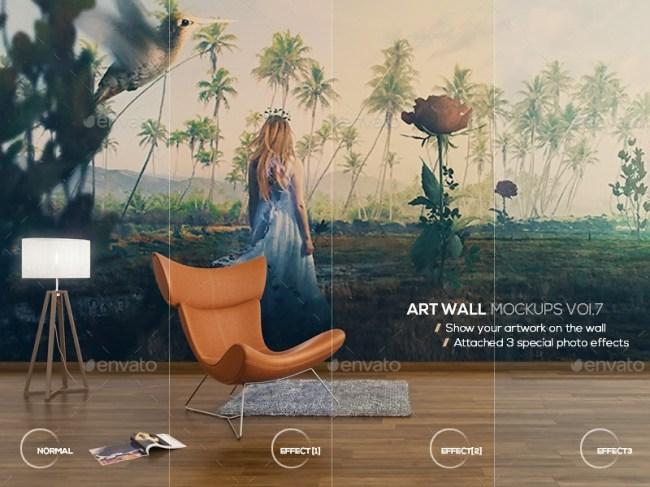 Art Wall Mockups Vol 7