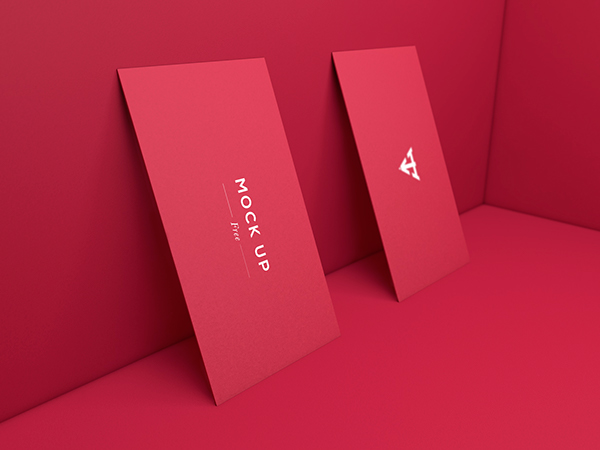 Free Business Cards Set Mockup - 6 Mockups PSD