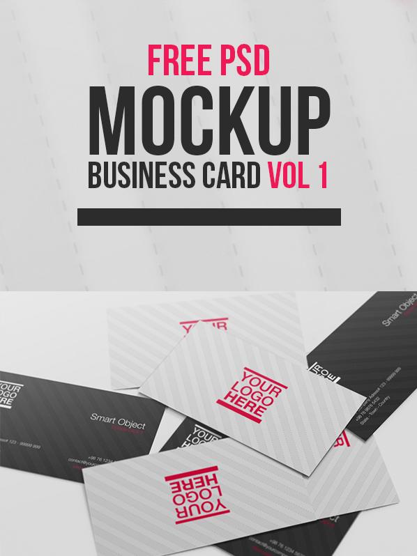Free PSD Mockup - Business Card Vol 1