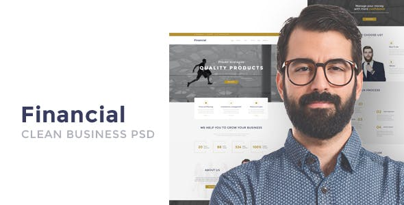 Financial - Clean Business WordPress Theme