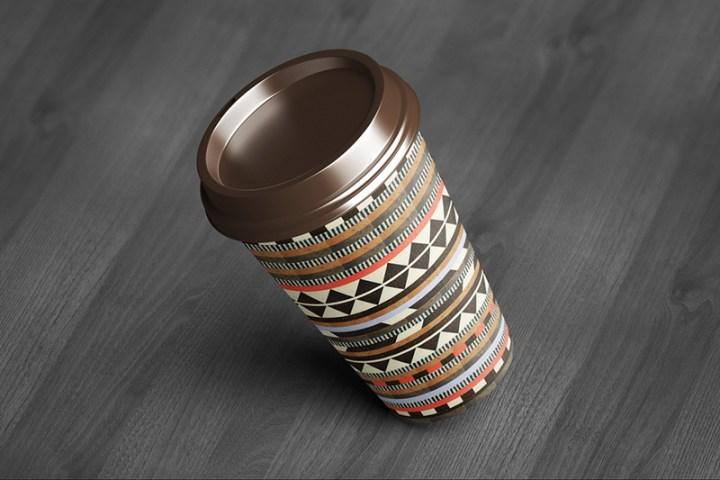 cool premium coffee cup mockup