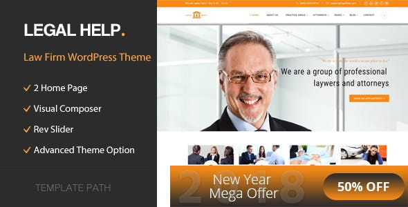Legal Help - Law Firm WordPress Theme