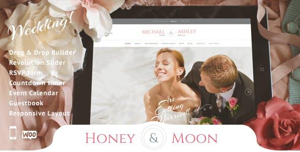 Honeymoon - Wedding & Wedding planner WordPress