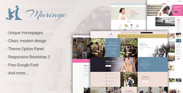Wedding & Marriage - Wedding WordPress Theme