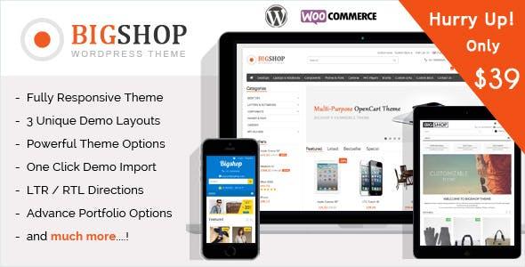 The Bigshop - WooCommerce WordPress Theme!