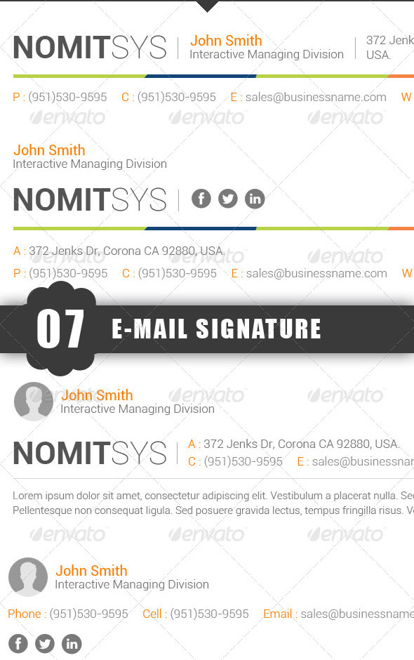 Standard E-Mail Signature Templates