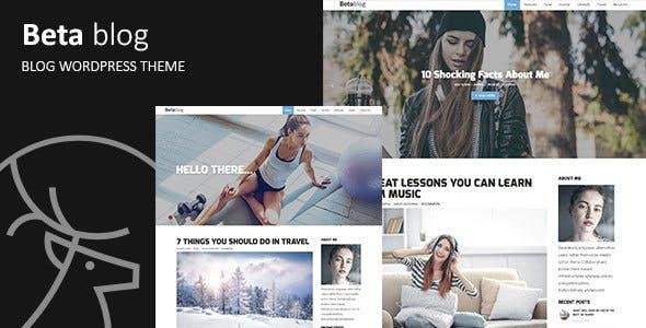 Beta-blog - Responsive WordPress Blog Theme