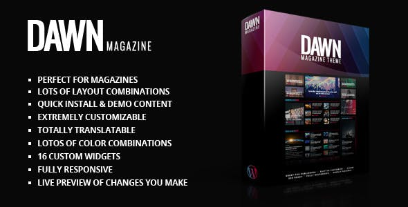 Dawn Magazine Theme