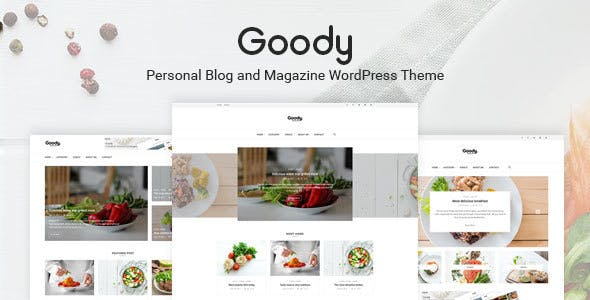 Goody - Personal Blog and Food Blog WordPress Theme