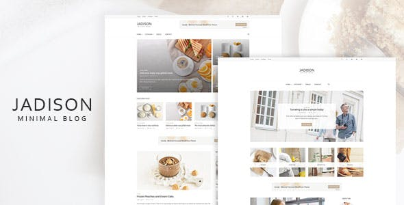 Jadison -Clean And Minimal WordPress Blog Theme