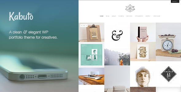 Kabuto: a clean, minimal & responsive WordPress creative theme with a fullscreen portfolio grid