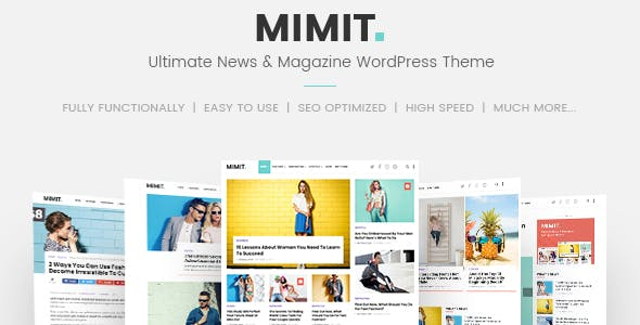 Mimit - Ultimate News & Magazine WordPress Theme