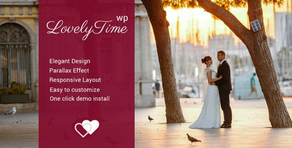 LovelyTime – Engagement & Wedding WordPress Theme
