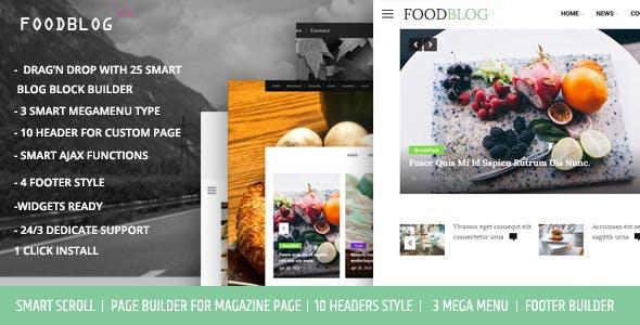 FoodBlog - Personal Blog and Magazine WordPress Theme
