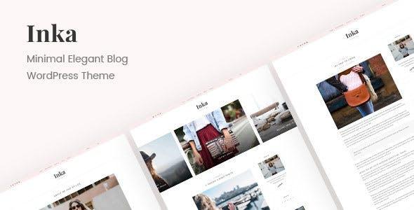 Inka   Minimal Blog WordPress Theme