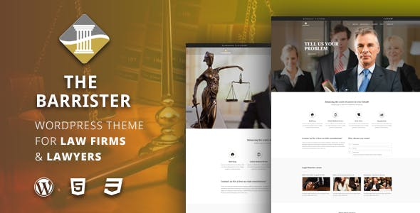 The Barrister – Lawyers & Attorneys WordPress Theme