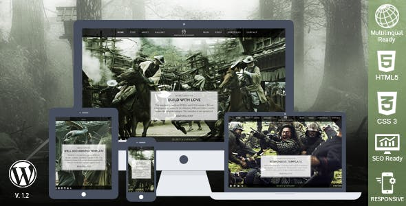 Samurai Responsive WordPress Theme