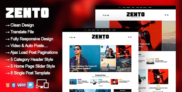 Zento - WordPress Blog Magazine Theme