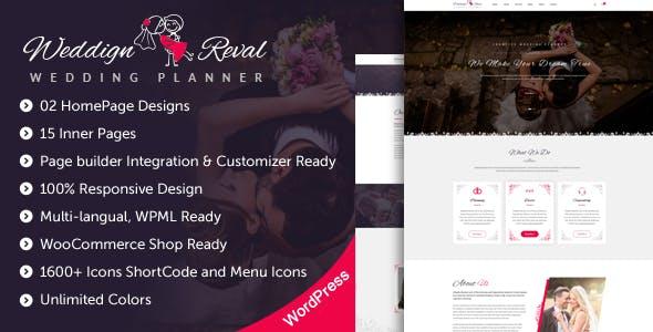Wedding Reval - Wedding Planner & Agency WordPress Theme