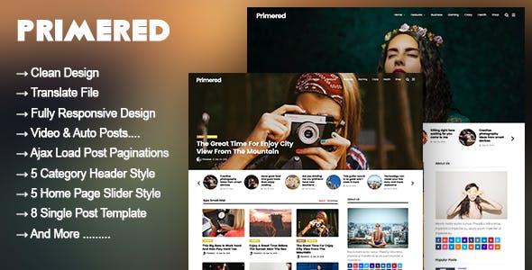 Primered - WordPress Blog Magazine Theme