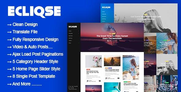 Ecliqse - WordPress Blog Magazine Theme