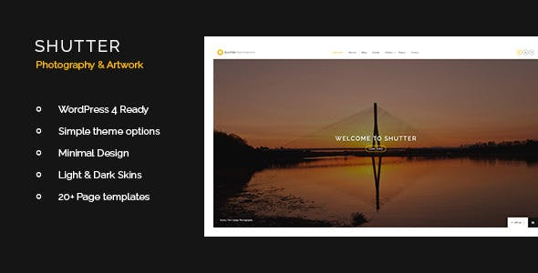 Shutter - Photography & Art WordPress Theme