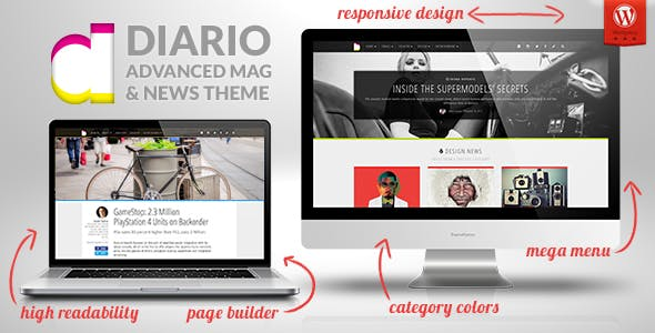 Diario: Modern and Responsive Magazine / Newspaper WordPress Theme