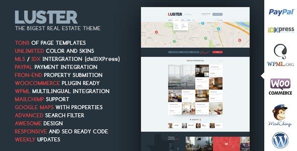 Luster - The Biggest Real Estate WordPress Theme