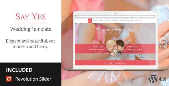 SayYes - WordPress Wedding Theme