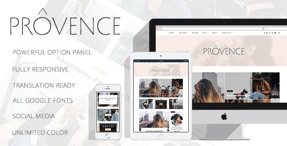 Provence - Smart Personal WordPress Blog Theme