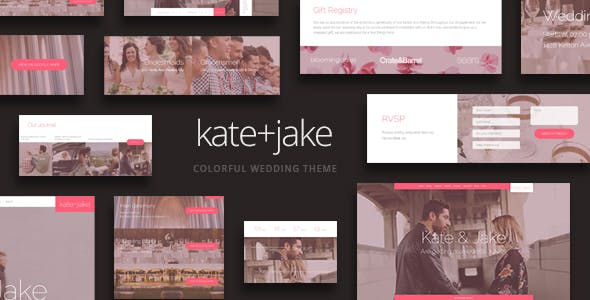 Kate + Jake - Lovely WordPress Wedding Theme