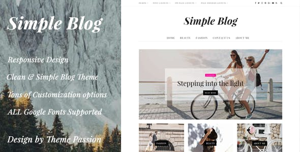 Simple Blog - Clean Responsive WordPress Blog Theme