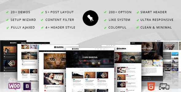 Darina - Minimal Blog / Portoflio & Shop Theme