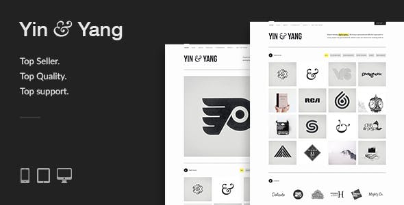 Yin & Yang: Modern, Responsive, Clean & Creative WordPress Portfolio Theme, powered by AJAX