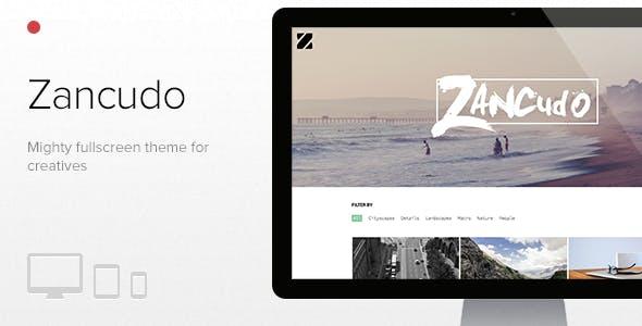 Zancudo - Mighty fullscreen theme for creatives